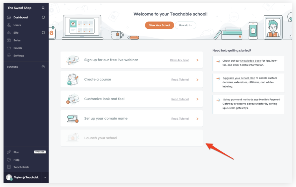TEACHABLE'S COURSE CREATOR INTERFACE
