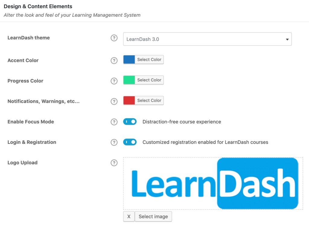 LearnDash 3.0 settings